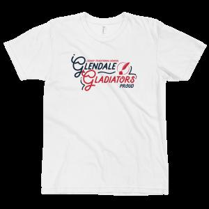 LTS Glendale Gladiators White Script T-shirt 2020